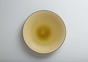 アースカラープレート イエロー(27cm/17cm)
