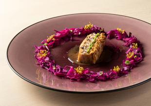 【紫、蘇芳、鳶茶。色変わりの器】アースカラープレート/パープル